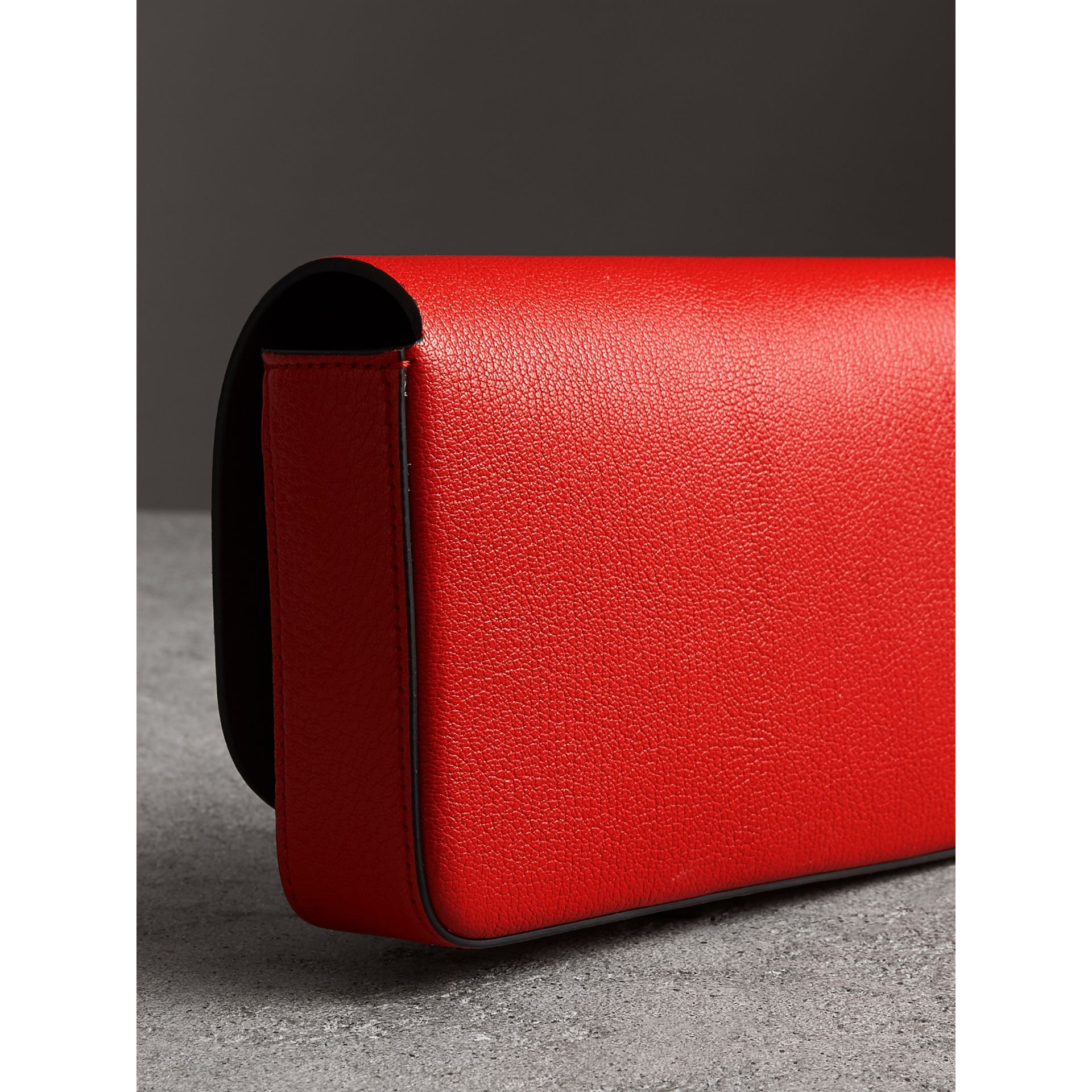 Equestrian Shield Leather Wallet with Detachable Strap in Bright Red - Women | Burberry - gallery image 4