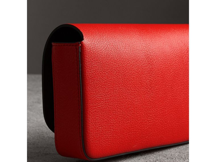 Equestrian Shield Leather Wallet with Detachable Strap in Bright Red - Women | Burberry - cell image 4