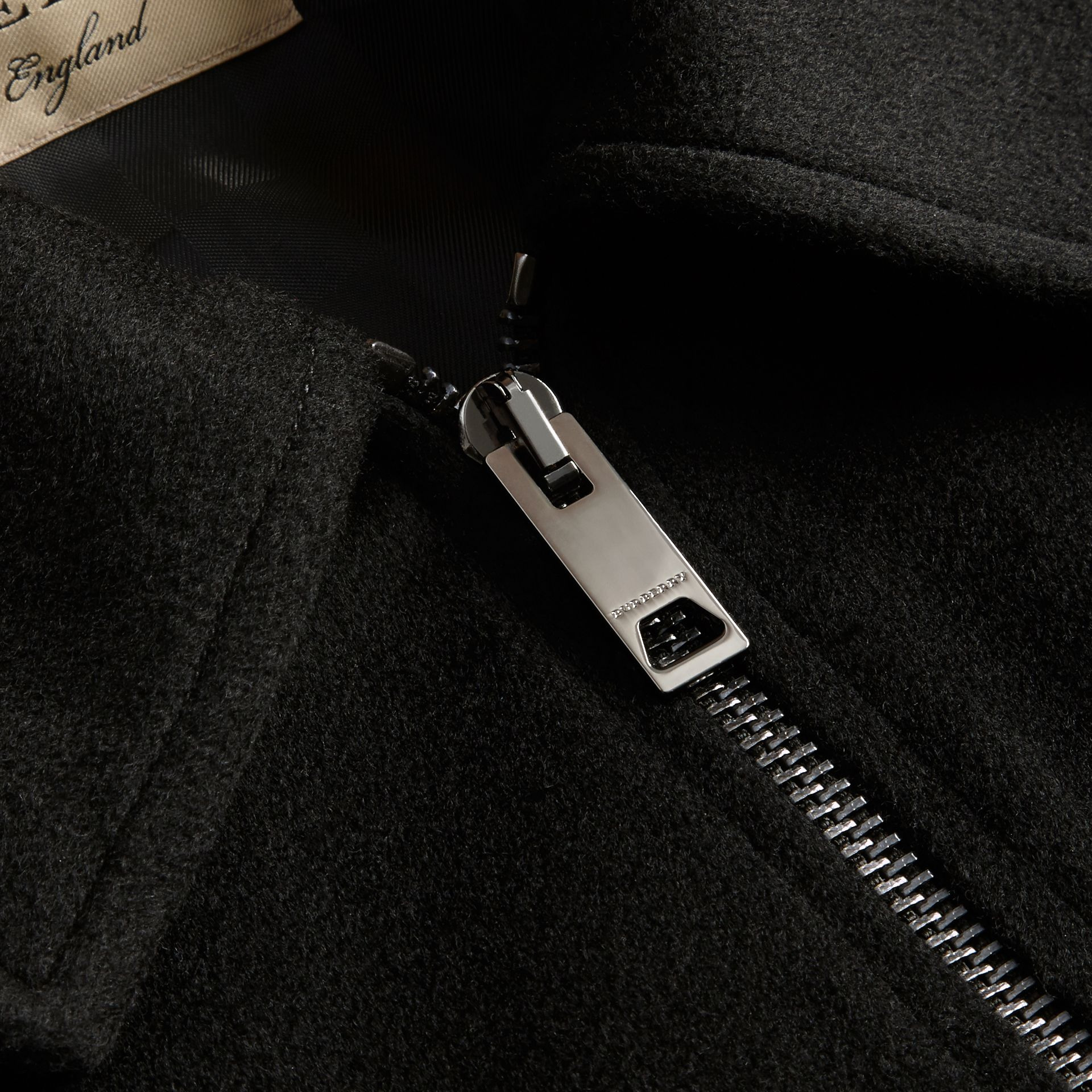 Black Ruffle Detail Cashmere Cape - gallery image 2