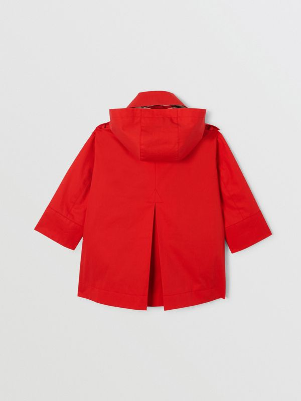 Cotton Twill Hooded Trench Coat in Bright Red | Burberry United Kingdom - cell image 3