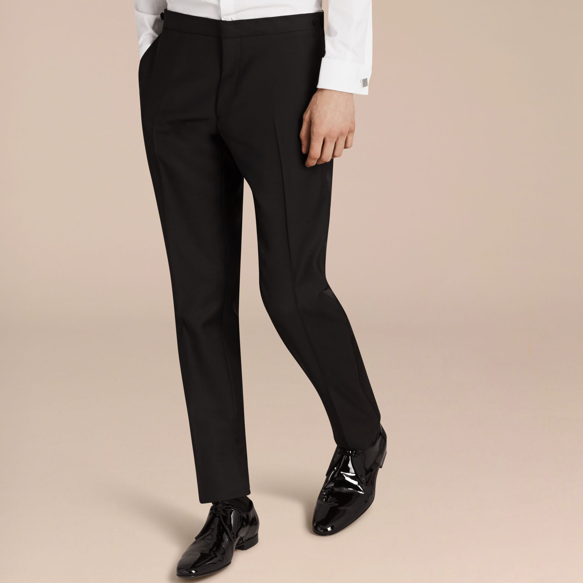Modern Fit Wool Mohair Half-canvas Tuxedo - Men | Burberry - gallery image 7