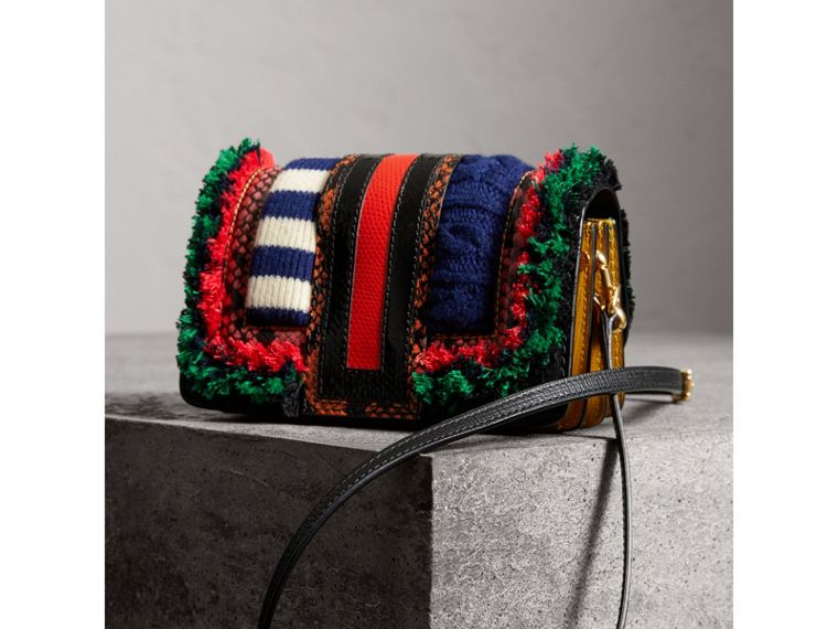 The Patchwork in Exotics and Knitted Wool in Multicolour - Women | Burberry Singapore - cell image 4