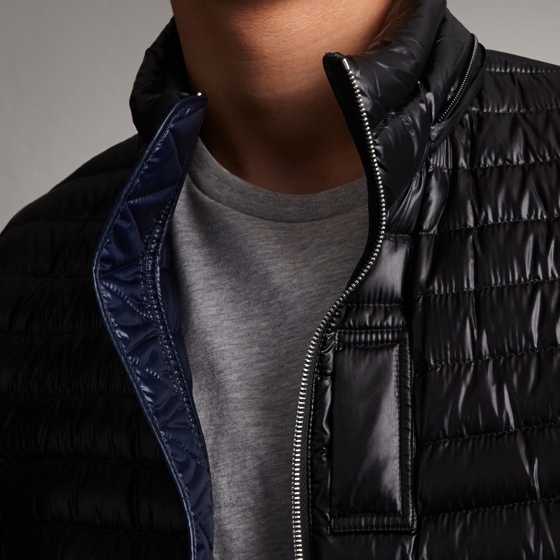 Packaway Hood Down-filled Puffer Jacket in Black - Men | Burberry - gallery image 5
