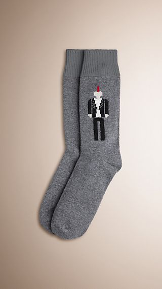 The Punk Graphic Cashmere Socks