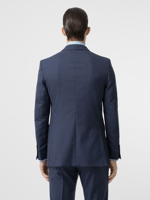 Classic Fit Wool Tailored Jacket in Steel Blue Melange - Men | Burberry United Kingdom - cell image 2