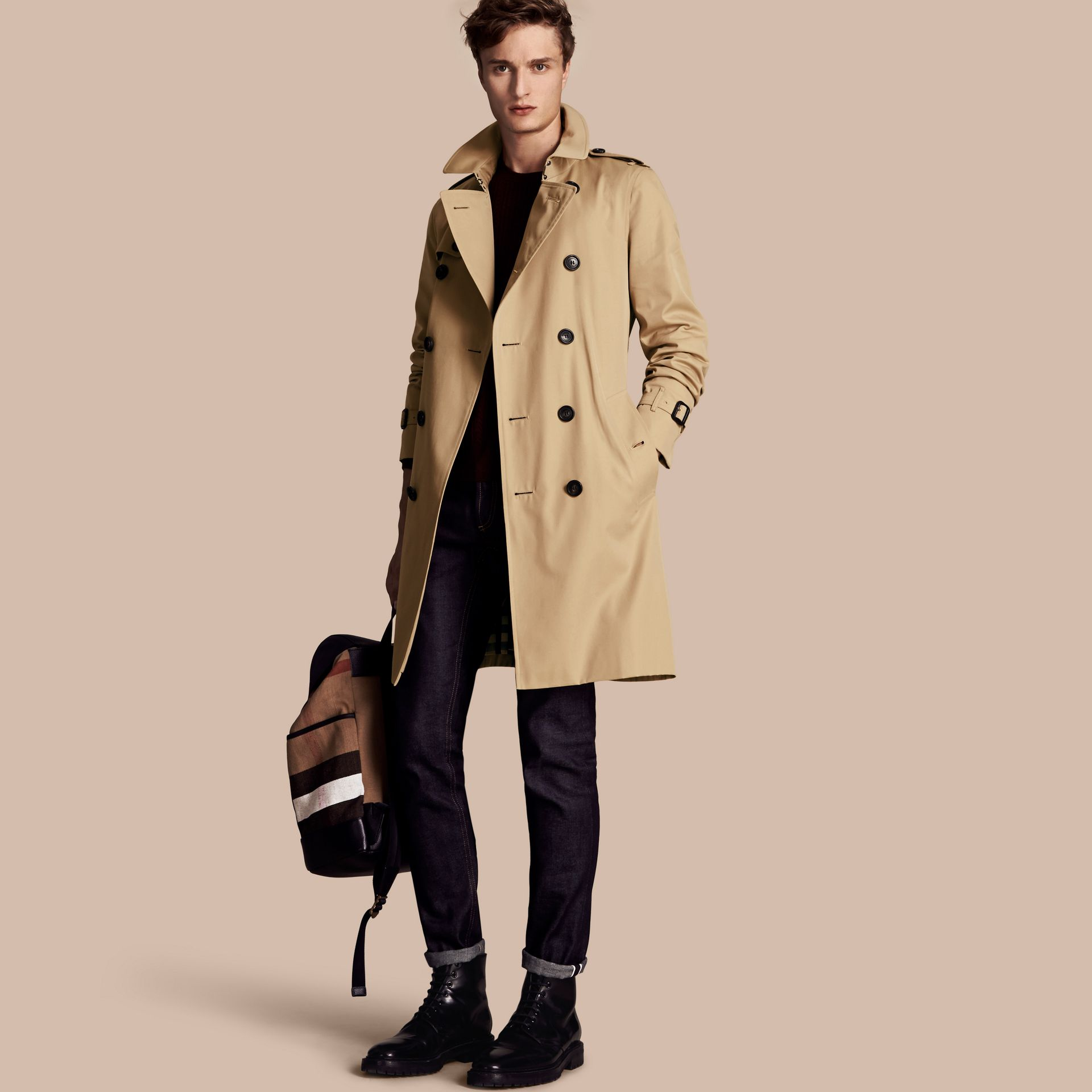 Miel The Sandringham – Trench-coat Heritage long Miel - photo de la galerie 1
