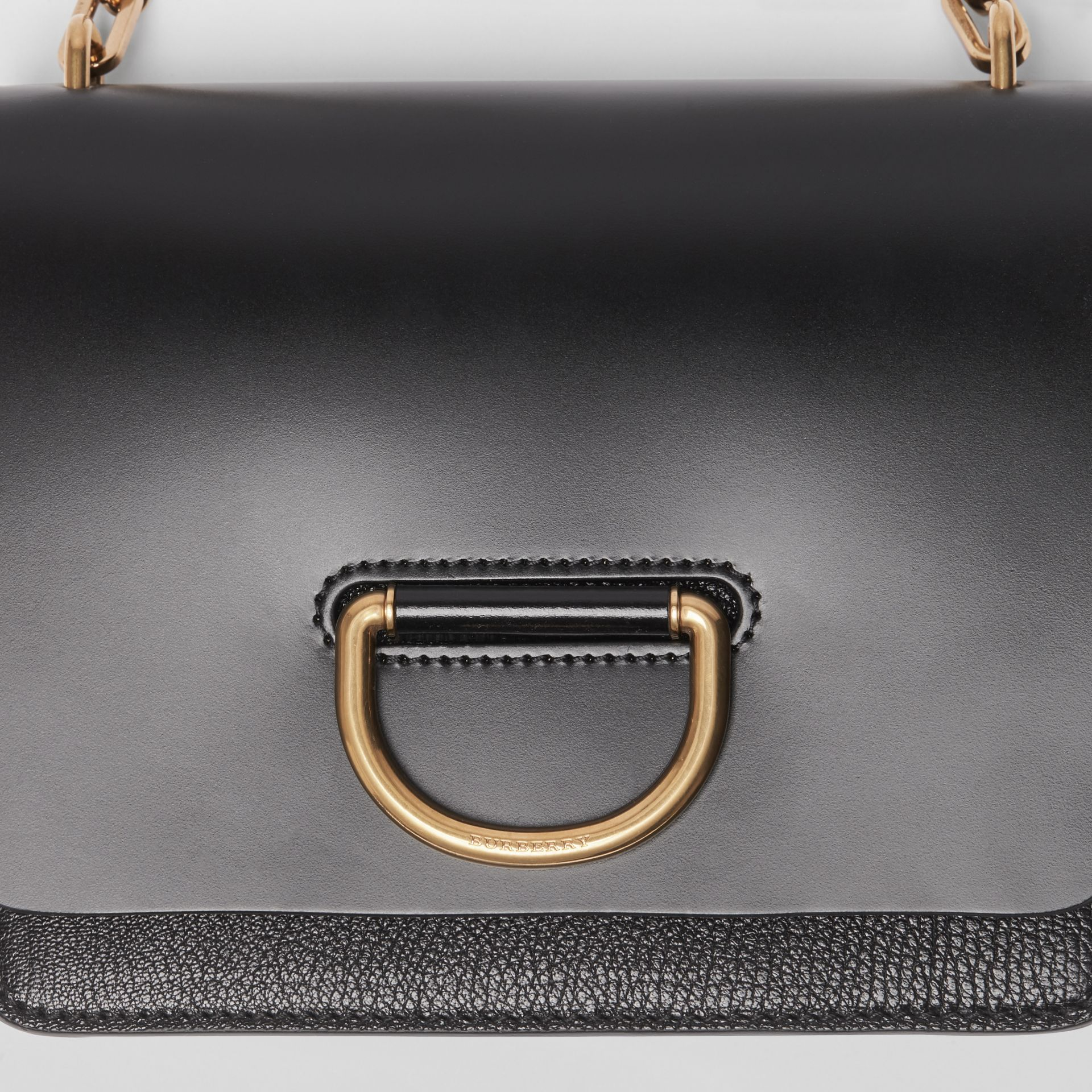 The Small Leather D-ring Bag in Black - Women | Burberry United Kingdom - gallery image 1