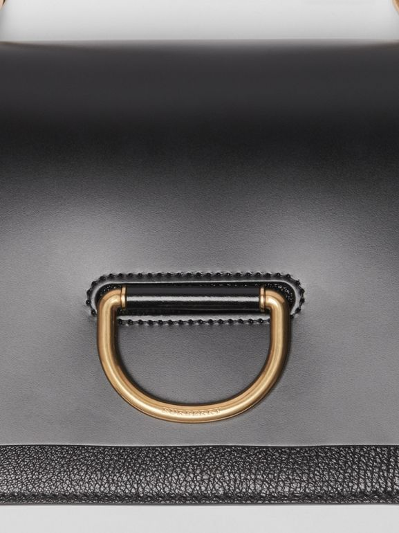 The Small Leather D-ring Bag in Black - Women | Burberry - cell image 1