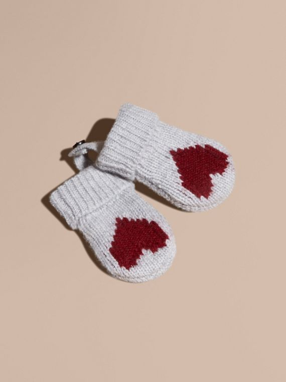 Heart Intarsia Cashmere Mittens