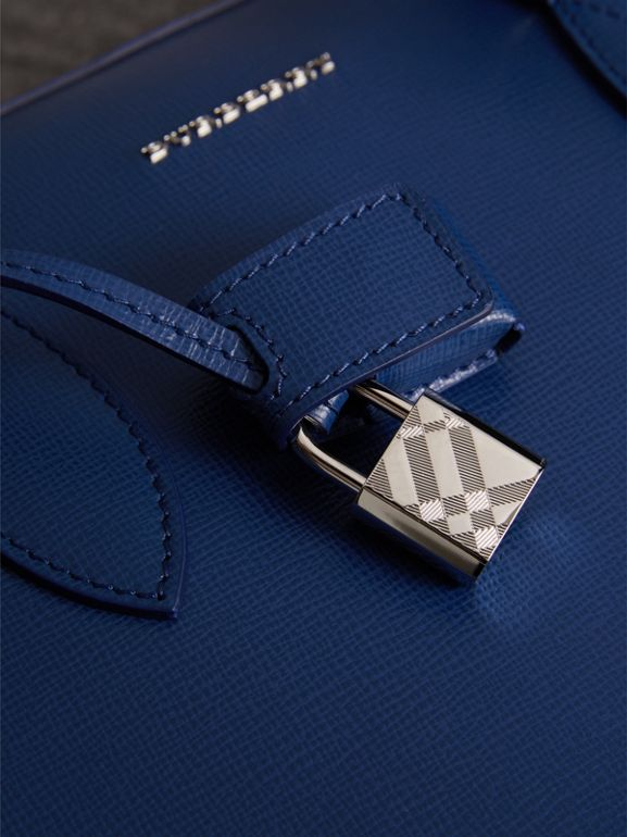 London Leather Briefcase in Deep Blue - Men | Burberry - cell image 1