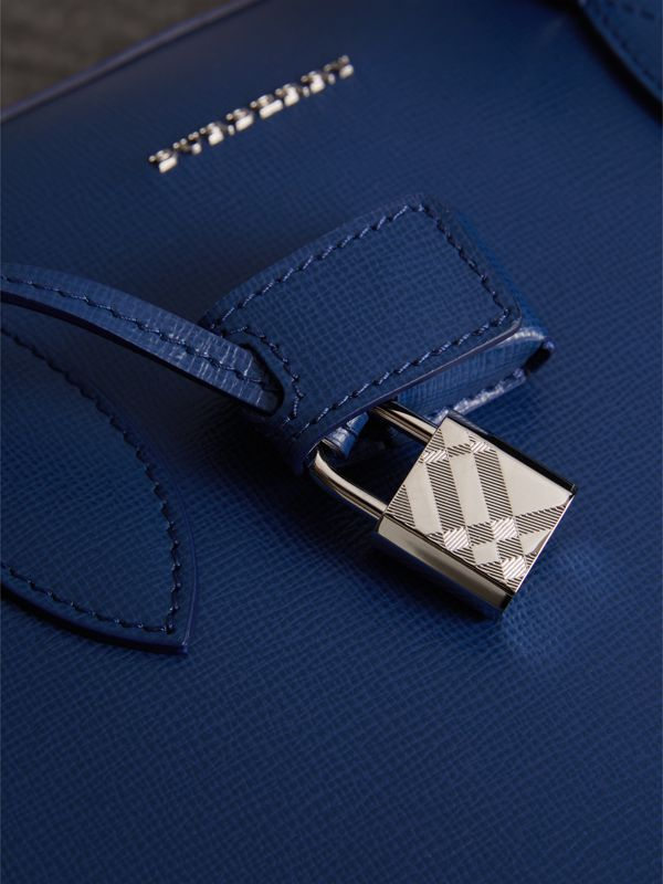 London Leather Briefcase in Deep Blue - Men | Burberry - cell image 2