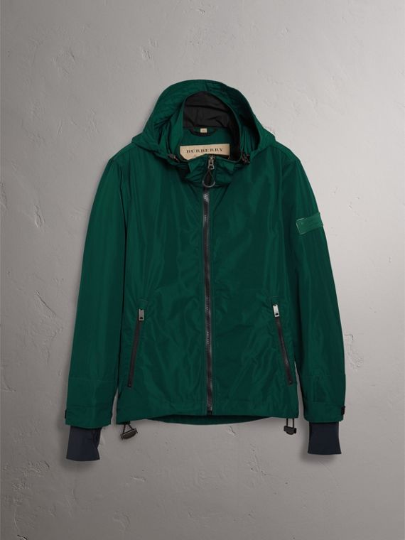 Packaway Hood Shape-memory Taffeta Jacket in Racing Green - Men | Burberry Australia - cell image 3