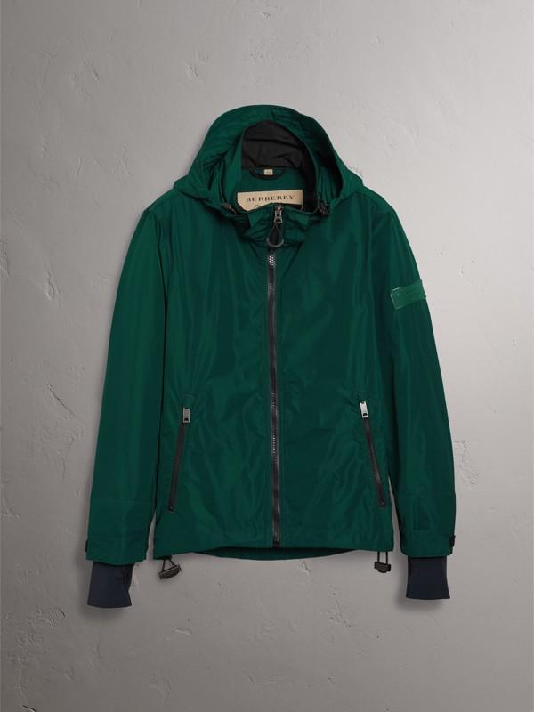 Packaway Hood Shape-memory Taffeta Jacket in Racing Green - Men | Burberry - cell image 3
