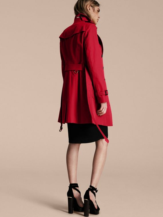 Parade red The Sandringham – Mid-length Heritage Trench Coat Parade Red - cell image 2