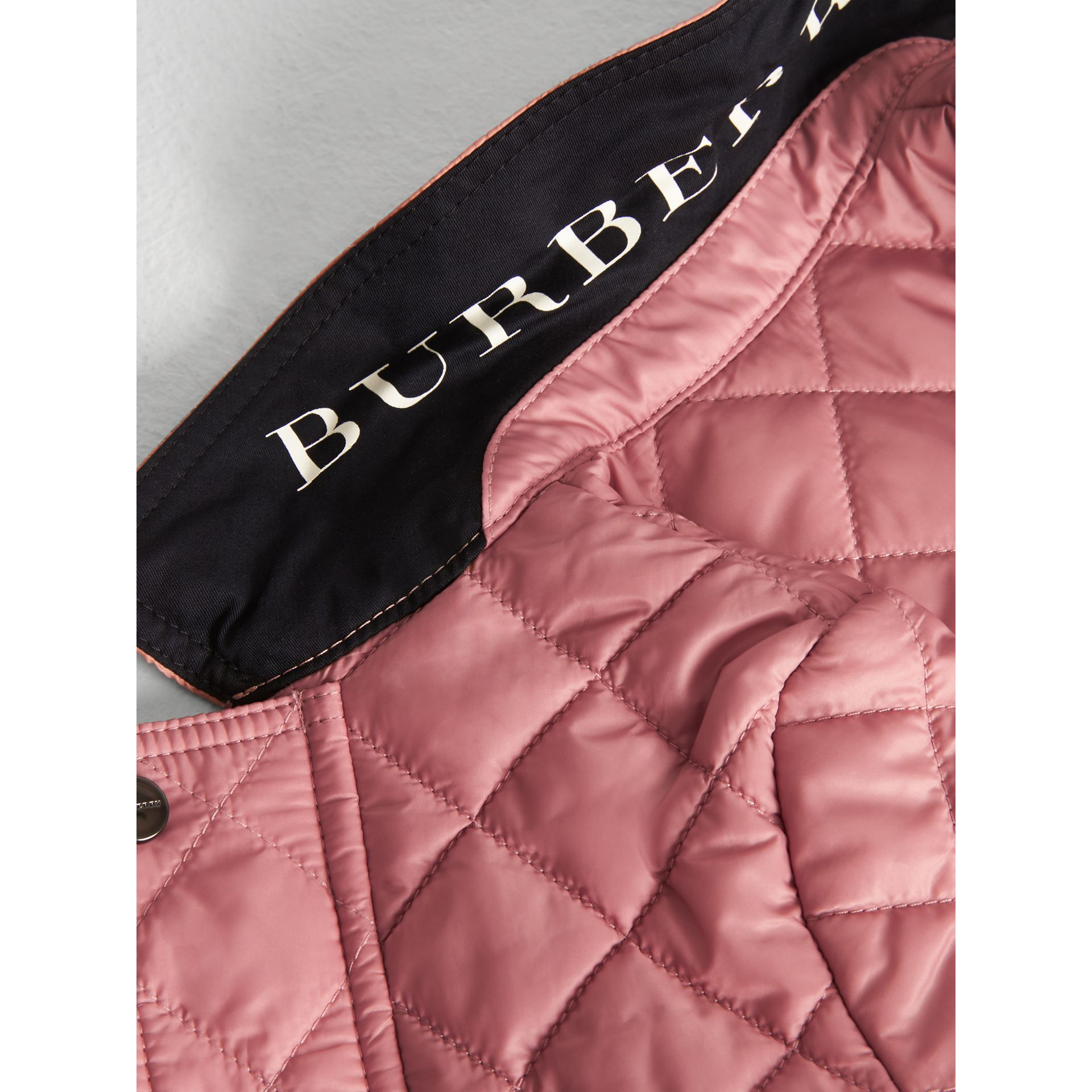 Lightweight Diamond Quilted Jacket in Pale Ash Rose - Children | Burberry Canada - gallery image 1