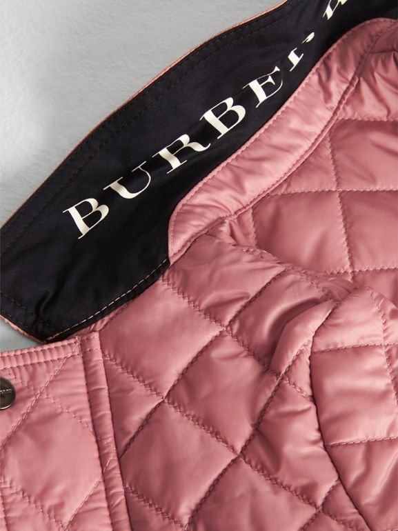 Lightweight Diamond Quilted Jacket in Pale Ash Rose - Children | Burberry - cell image 1