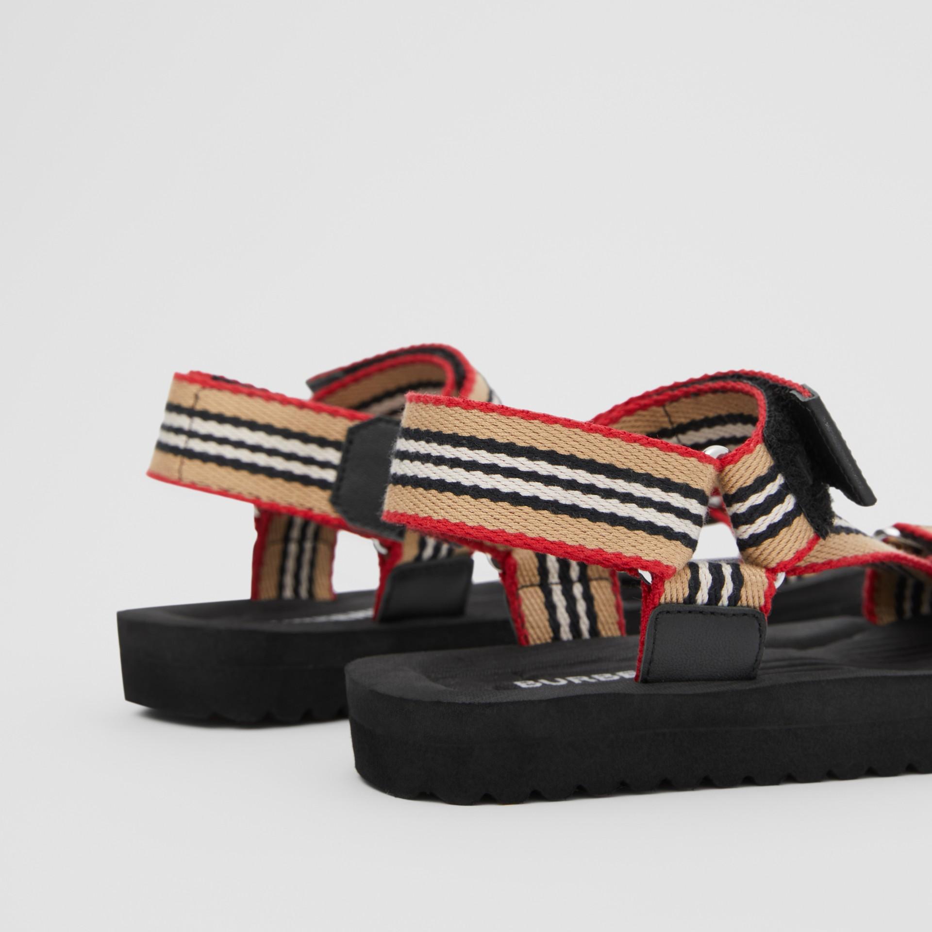 Icon Stripe Sandals in Archive Beige - Children | Burberry - gallery image 1