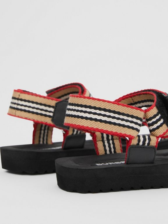 Icon Stripe Sandals in Archive Beige - Children | Burberry - cell image 1
