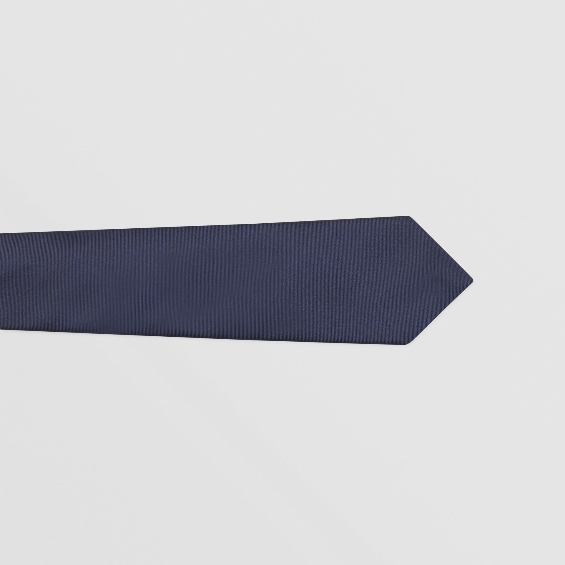 Classic Cut Check Silk Jacquard Tie in Navy - Men | Burberry Hong Kong S.A.R - gallery image 1