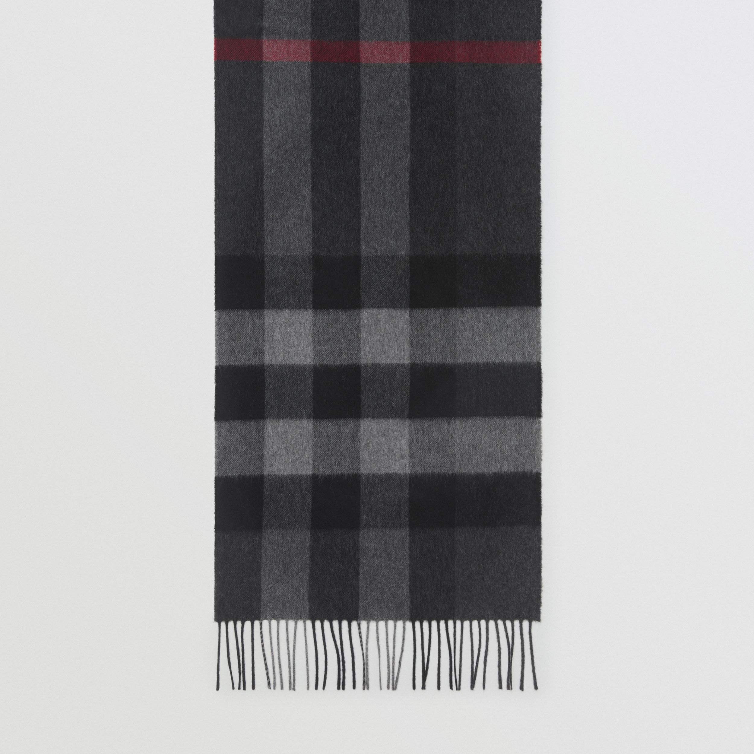 Check Cashmere Scarf in Charcoal | Burberry - 4