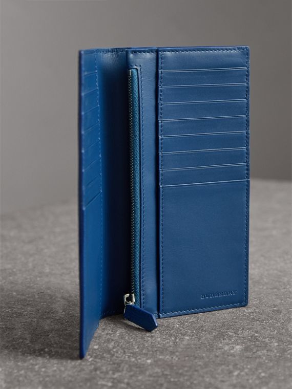 London Leather Continental Wallet in Deep Blue - Men | Burberry United States - cell image 3