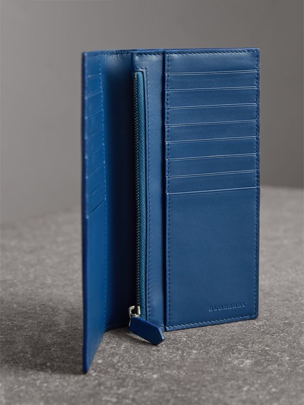 London Leather Continental Wallet in Deep Blue - Men | Burberry - cell image 3