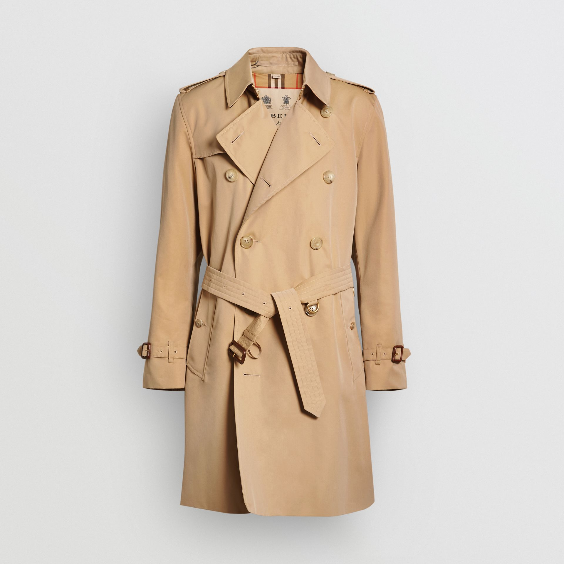 Trench Heritage The Kensington (Miel) - Homme | Burberry - photo de la galerie 3