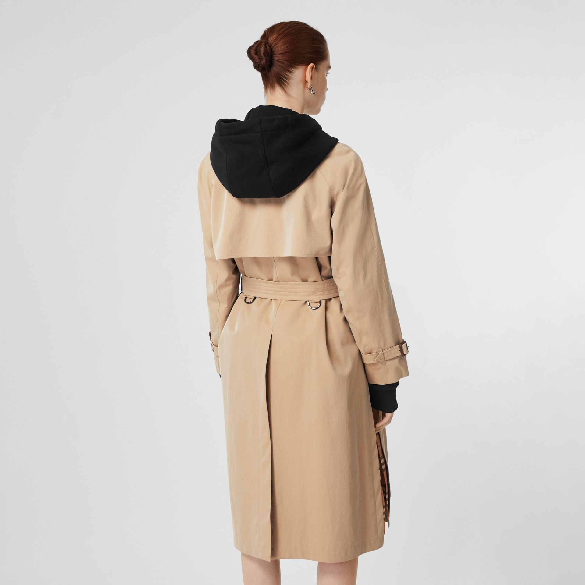Side-slit Tropical Gabardine Trench Coat in Honey - Women | Burberry United States - gallery image 2