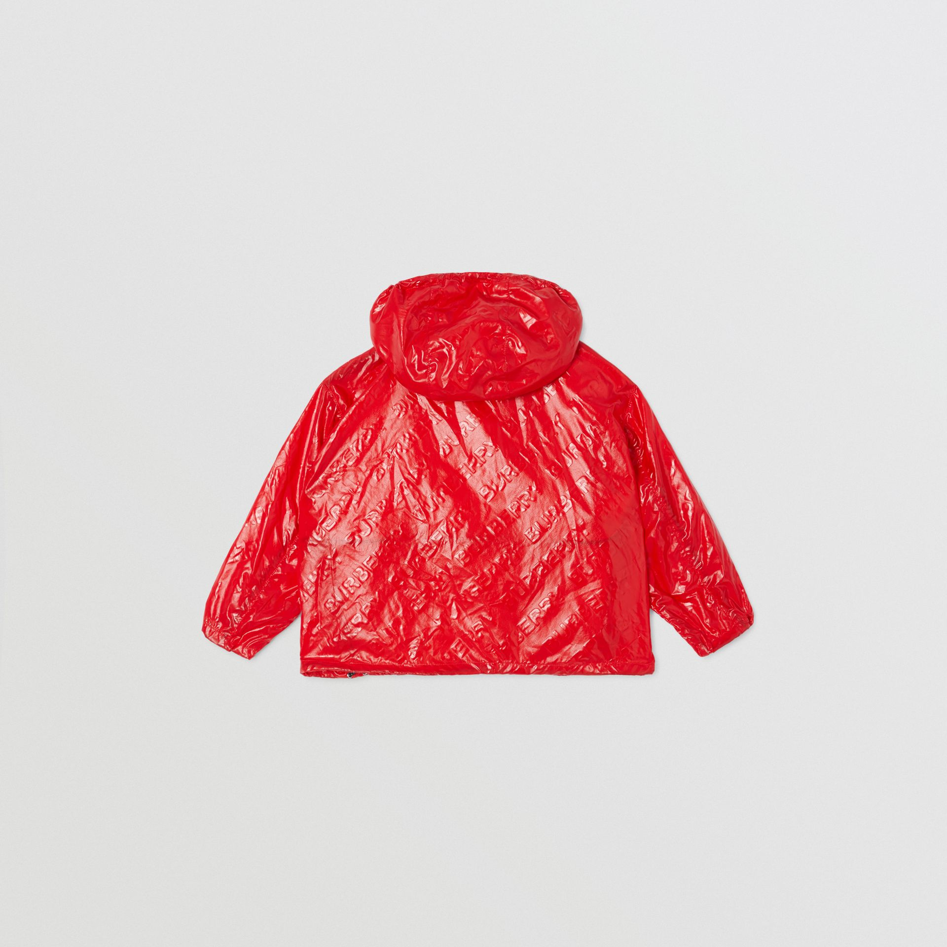 Logo Print Lightweight Hooded Jacket in Bright Red | Burberry United States - gallery image 4