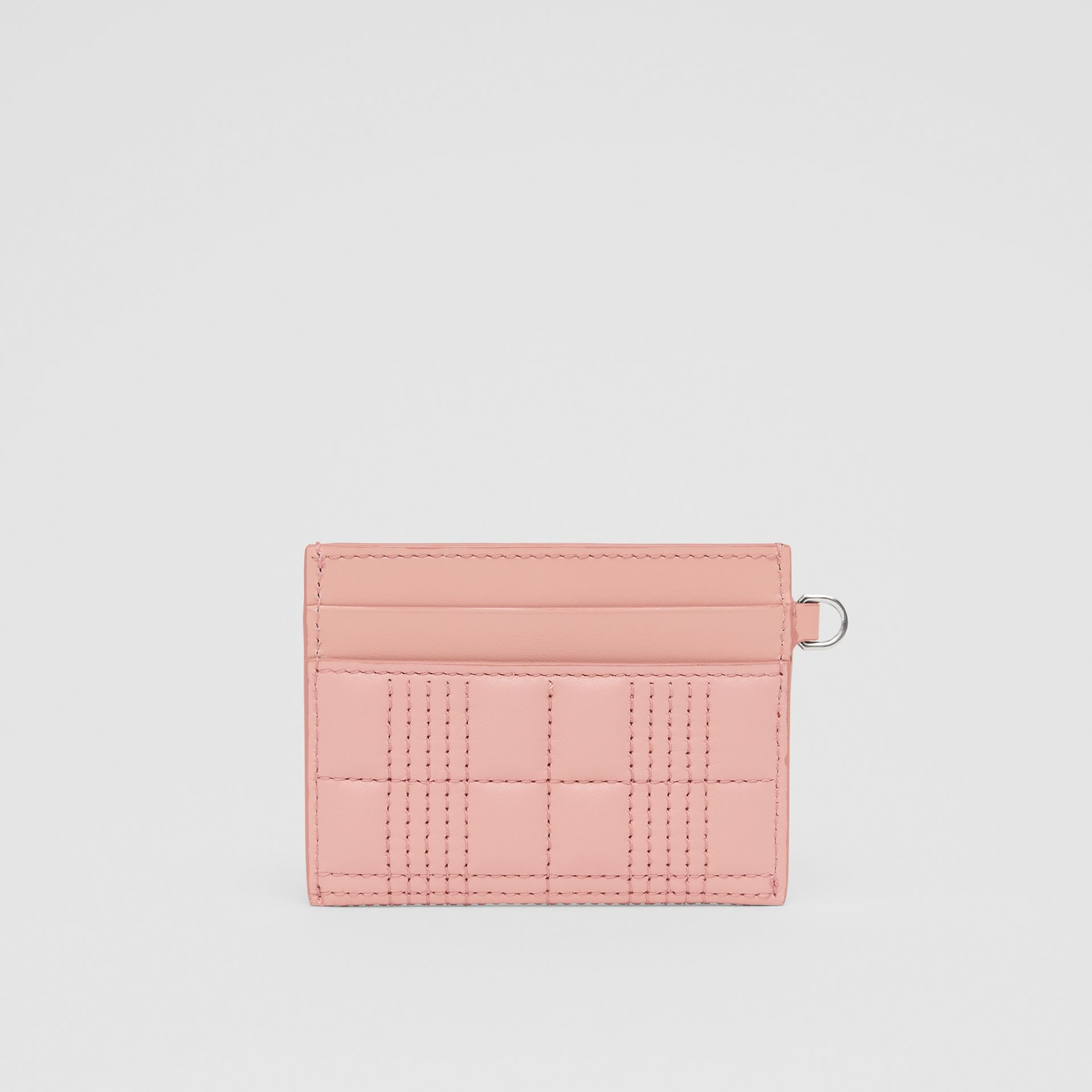 Monogram Motif Quilted Lambskin Card Case in Blush Pink - Women | Burberry - gallery image 4