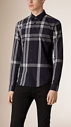 Textured Check Cotton Shirt