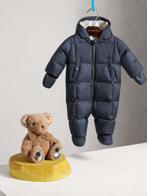 Down-filled Puffer Suit in Navy