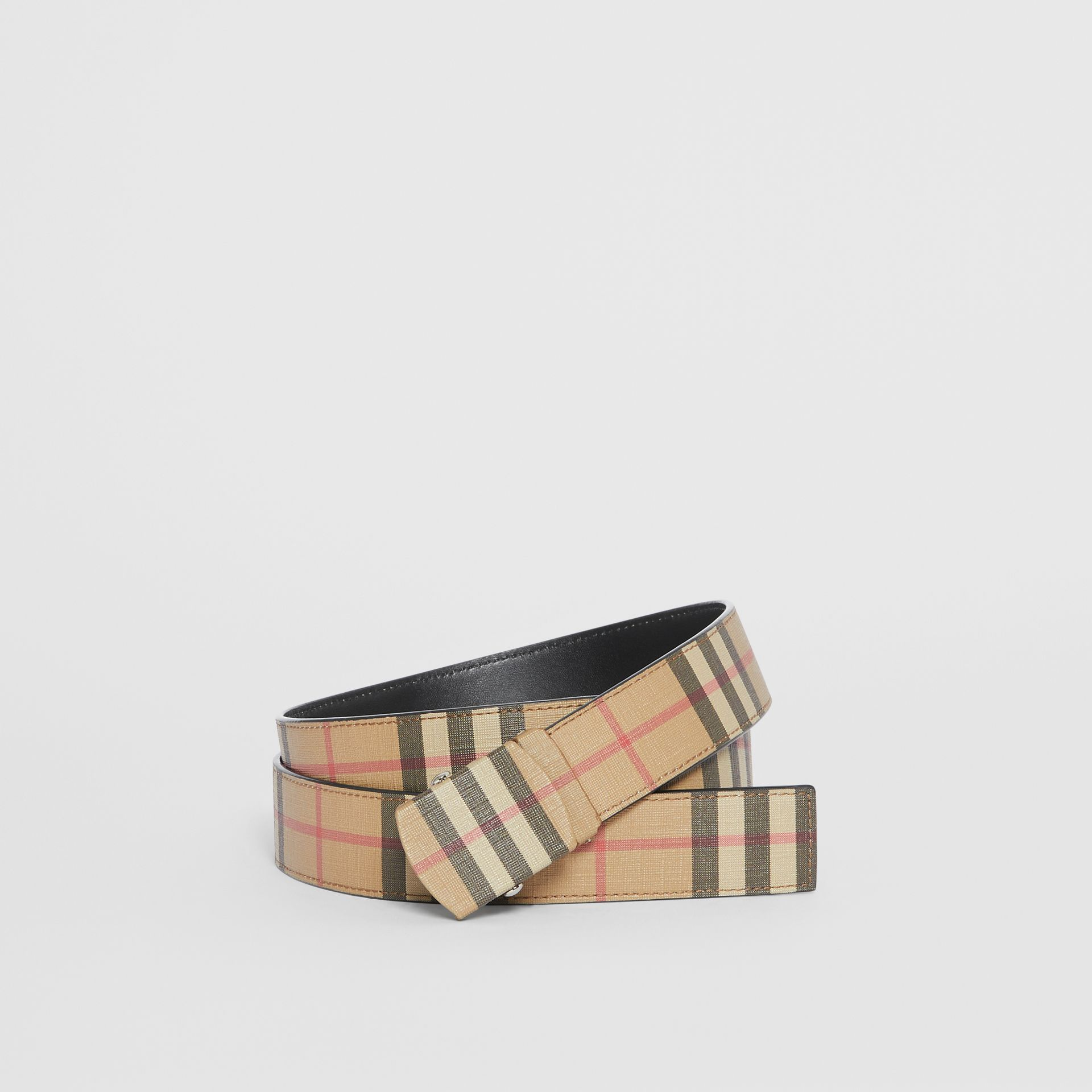 Vintage Check E-canvas Belt in Archive Beige - Men | Burberry United Kingdom - gallery image 0