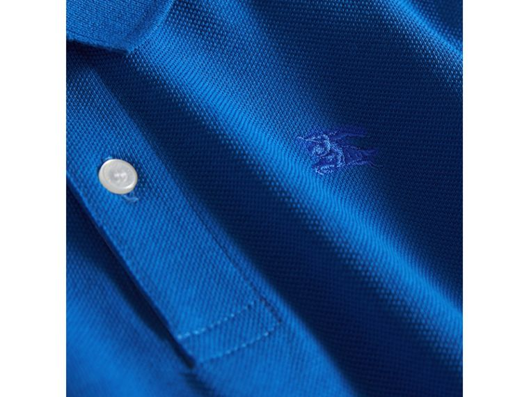 Check Placket Polo Shirt in Cobalt Blue - Boy | Burberry Australia - cell image 1