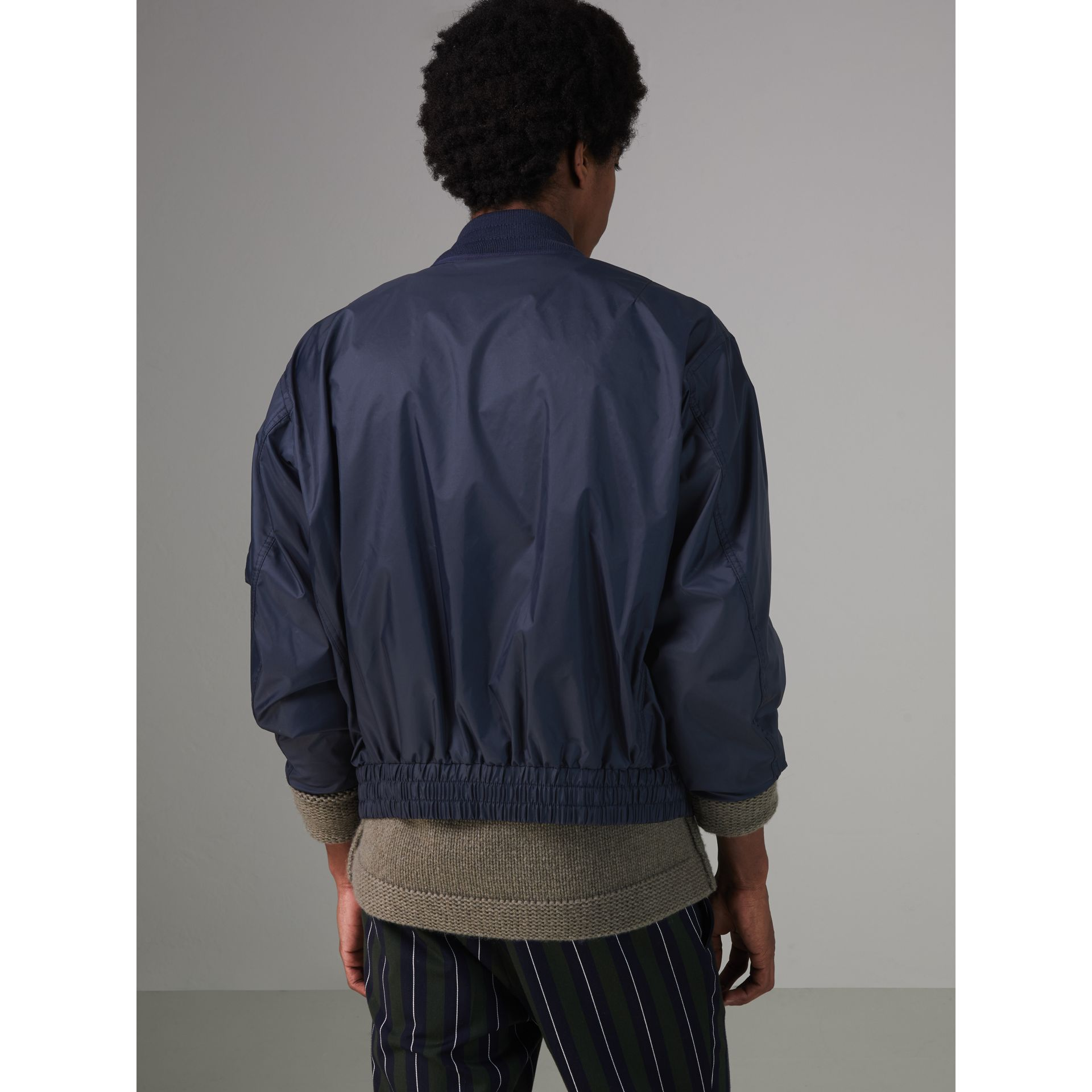 Lightweight Showerproof Bomber Jacket in Navy - Men | Burberry Canada - gallery image 2