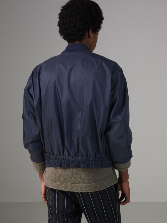 Lightweight Showerproof Bomber Jacket in Navy - Men | Burberry - cell image 2