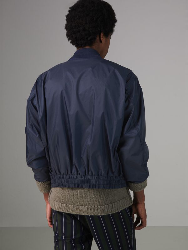 Lightweight Showerproof Bomber Jacket in Navy - Men | Burberry Canada - cell image 2