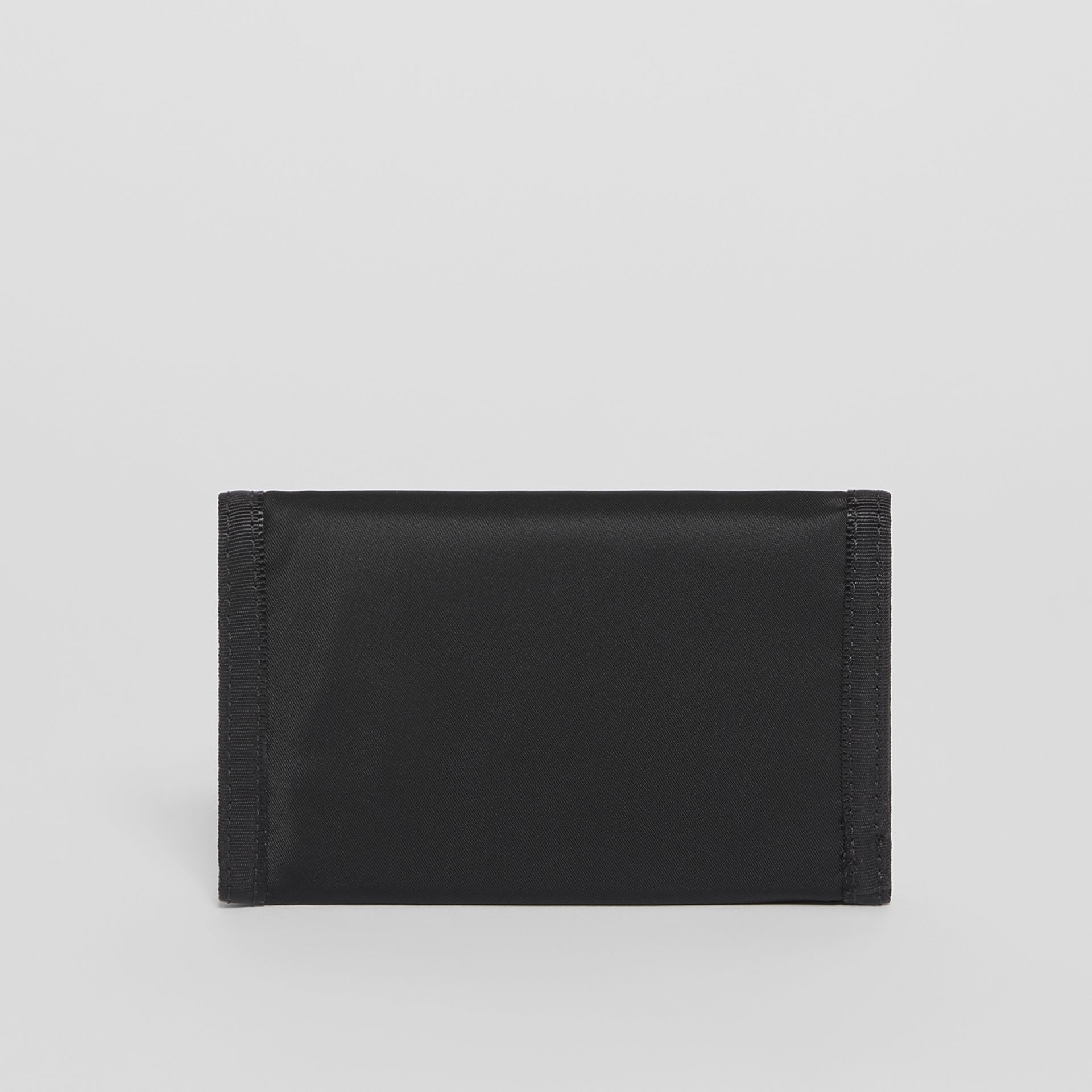Logo Print Nylon Travel Wallet in Black/white - Men | Burberry - gallery image 4