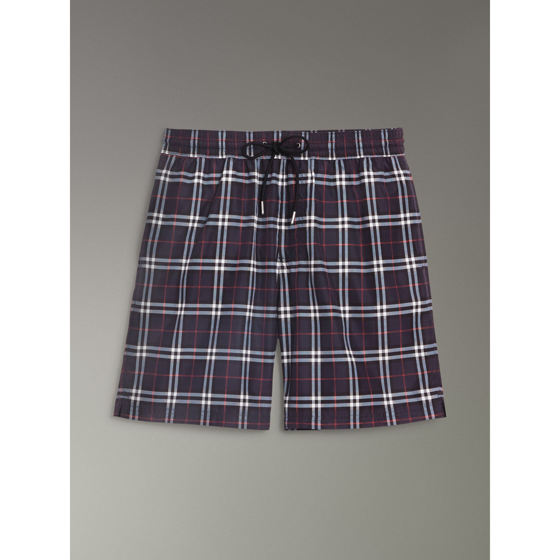Drawcord Swim Shorts in Navy - Men | Burberry Canada - gallery image 3