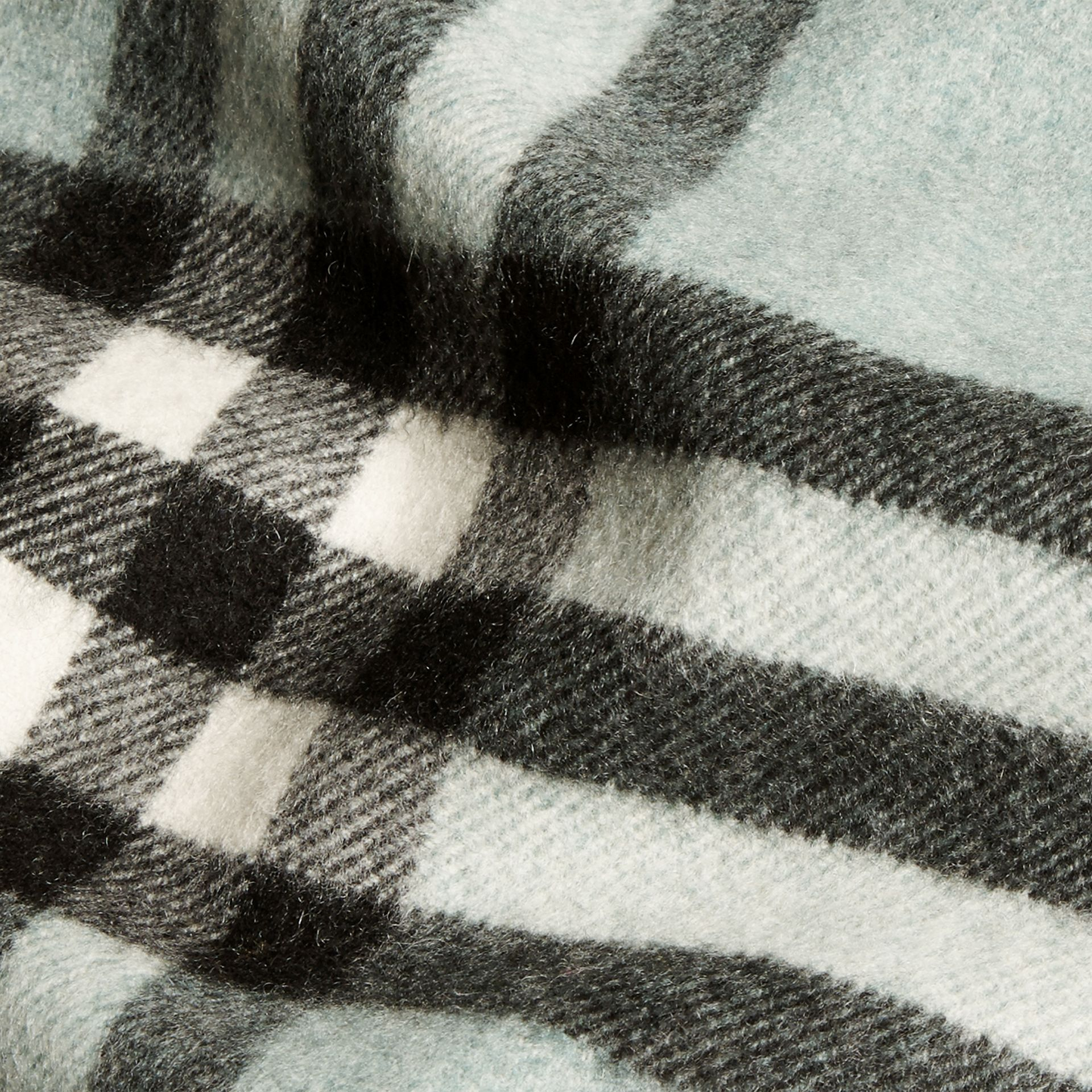 The Classic Cashmere Scarf in Check Dusty Mint - gallery image 5
