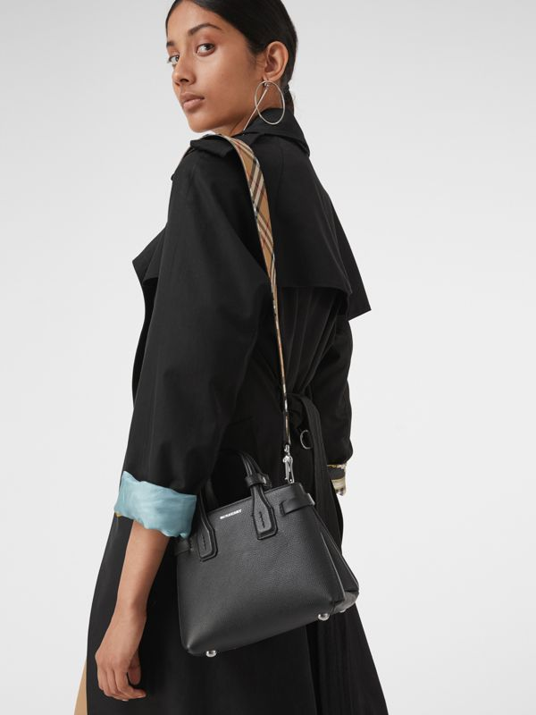 The Baby Banner in Leather and Vintage Check in Black - Women | Burberry Australia - cell image 3