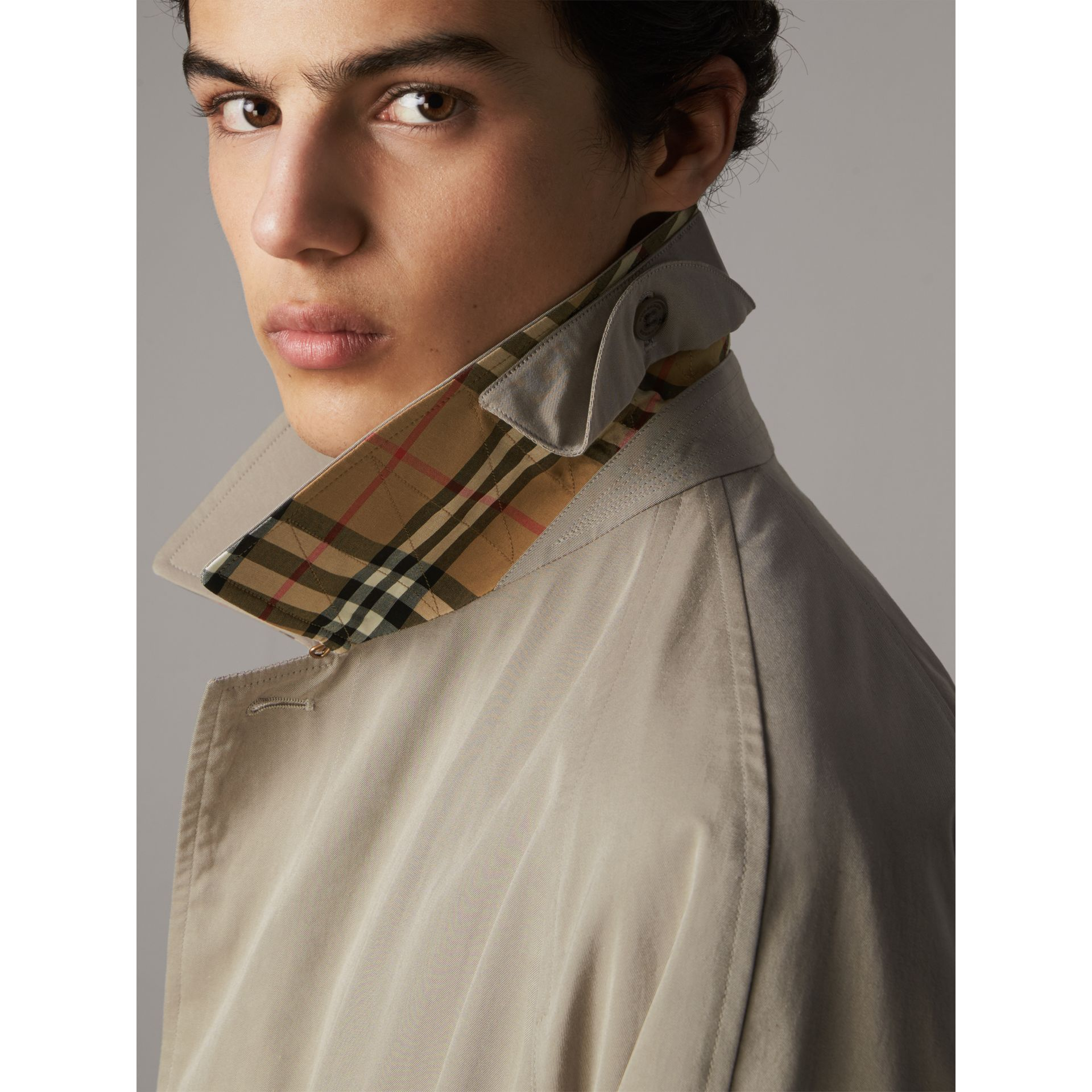 The Brighton – Longline Car Coat in Sandstone - Men | Burberry - gallery image 2