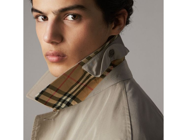 The Brighton – Longline Car Coat in Sandstone - Men | Burberry - cell image 1
