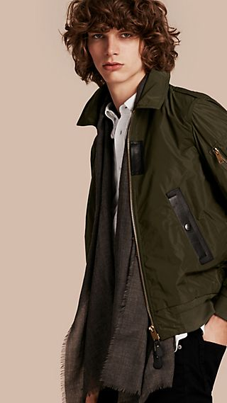 Lightweight Leather Trim Technical Jacket