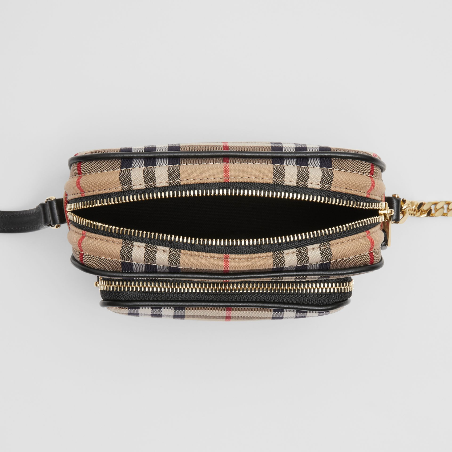 Vintage Check Cotton Camera Bag in Archive Beige | Burberry Singapore - gallery image 4