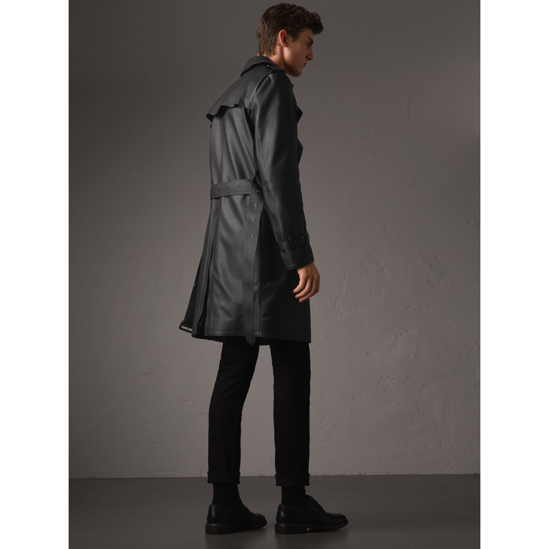 Lambskin Trench Coat - Men | Burberry - gallery image 3
