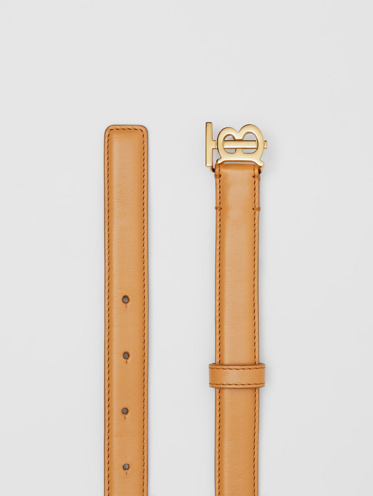 Monogram Motif Leather Belt in Warms Sand