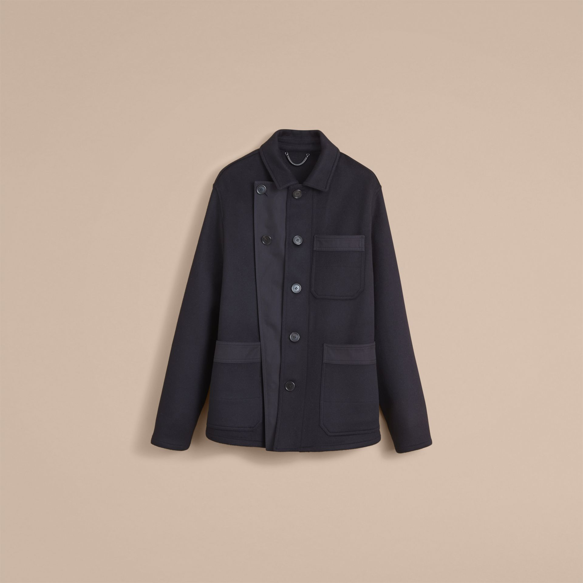 Double-faced Cashmere Workwear Jacket - Men | Burberry - gallery image 4