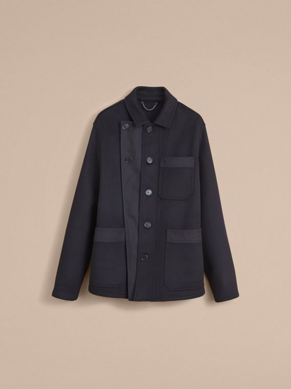 Double-faced Cashmere Workwear Jacket - Men | Burberry - cell image 3