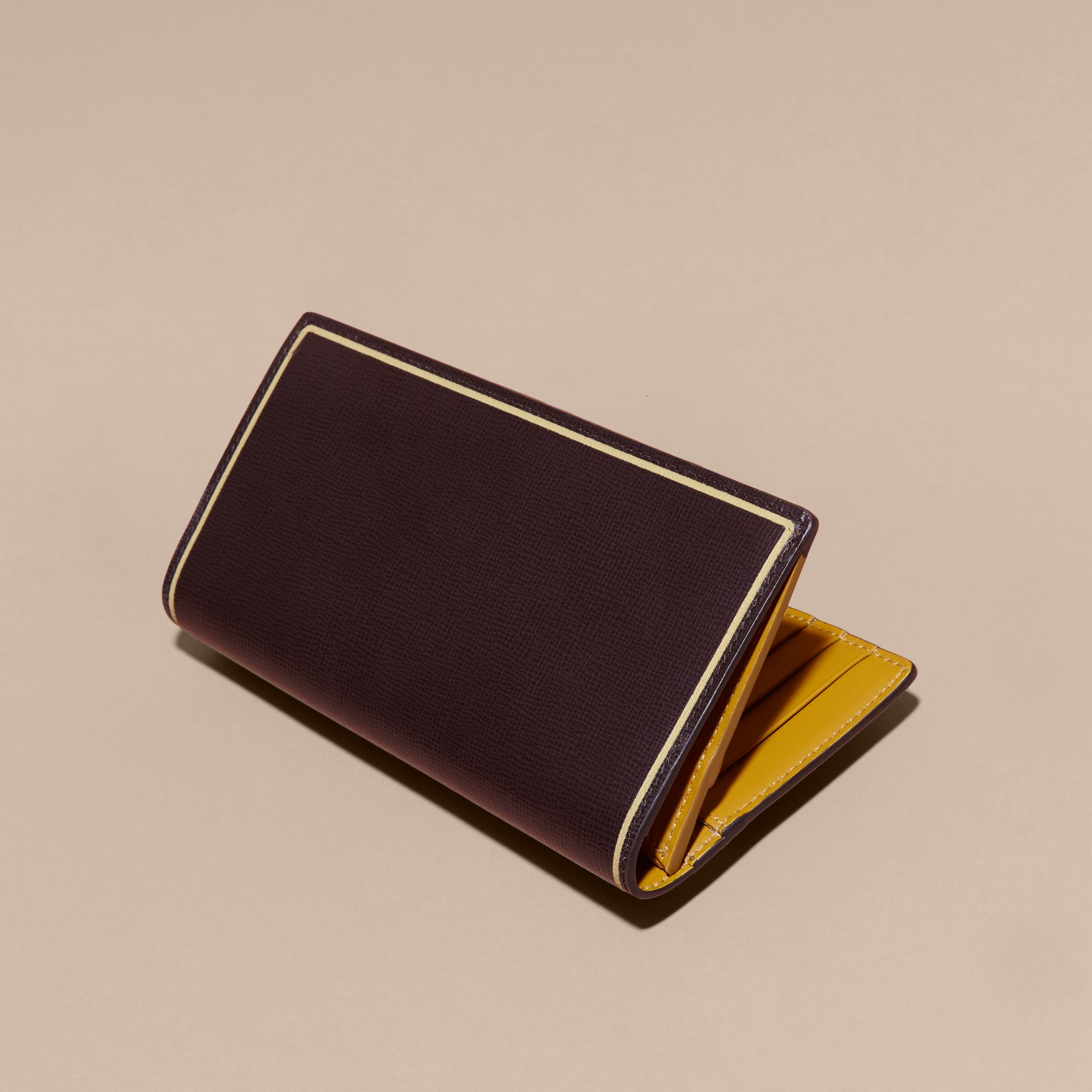 Peppercorn Border Detail London Leather Continental Wallet Peppercorn - gallery image 5